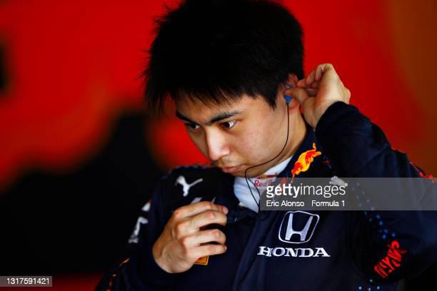 Ayumu Iwasa of Japan and Hitech Grand Prix at Circuito de Jerez on May 12, 2021 in Jerez de la Frontera, Spain.