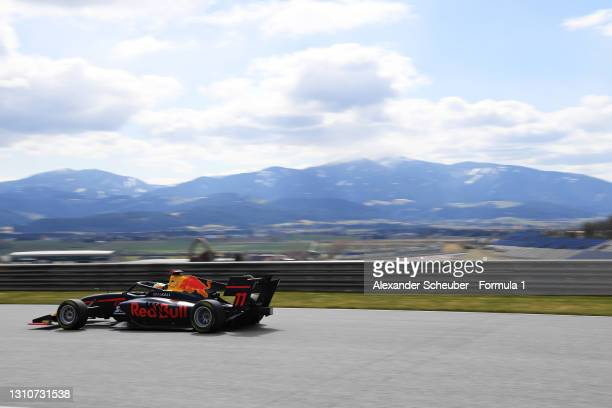 Ayumu Iwasa of Japan and Hitech Grand Prix drives during Day Two of Formula 3 Testing at Red Bull Ring on April 04, 2021 in Spielberg, Austria.