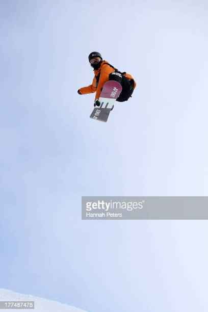 Ayumu Nedefuji of Japan competes during FIS Snowboard Halfpipe World Cup Finals on day 10 of the Winter Games NZ at Cardrona Alpine Resort on August...