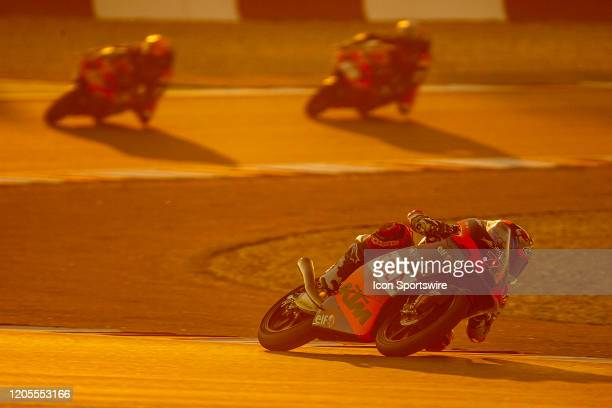 Ayumu Sasaki of Red Bull KTM Tech3 in action during Fridays free practice session of QNB Qatar Motorcycle Grand Prix held on March 06 at Local...