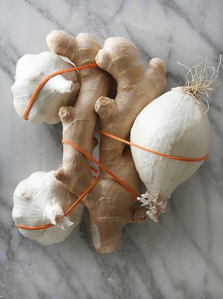 Ayurvedic Ingredients of Onion, Garlic, and Ginger