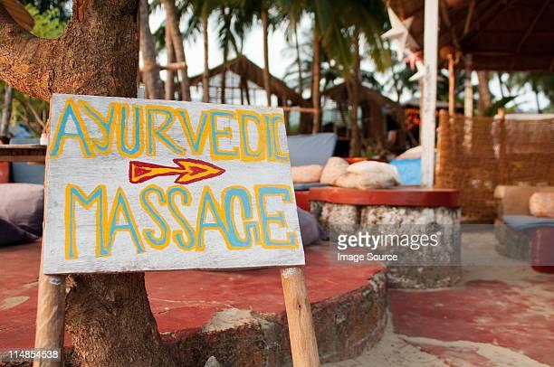 Ayurveda-massage-Schild, Goa