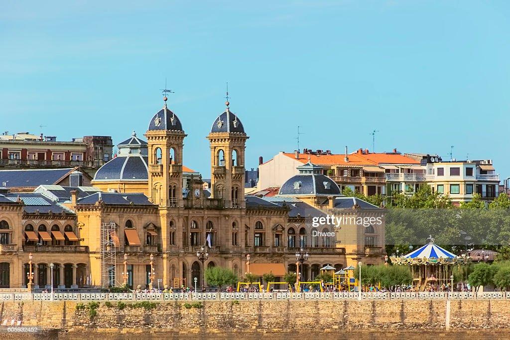 Ayutamiento Or City Hall Of San Sebastian (Donostia) Spain. : Stock Photo