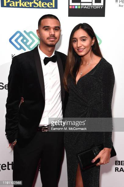 Aza and guest attend the Brit Asia TV Music Awards 2019 at SSE Arena Wembley on November 30 2019 in London England