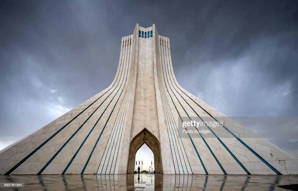 Azadi Tower, Freedom Tower Monument In Tehran, Iran : Stock Photo