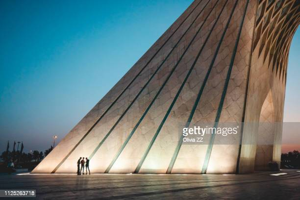 azadi tower, teheran, iran, middle east - monument stock pictures, royalty-free photos & images