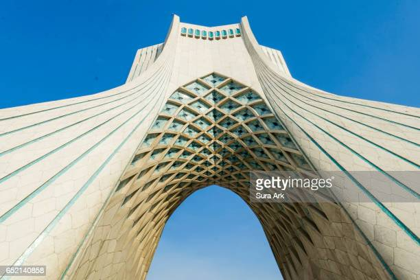 azadi tower, tehran, iran. - tehran stock pictures, royalty-free photos & images