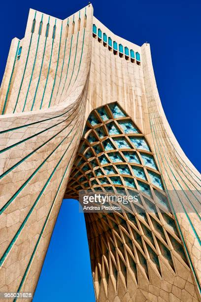 azadi tower, tehran, iran - tehran stock pictures, royalty-free photos & images