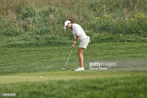 Azahara Munoz of Spain putts during the second round of the Reignwood LPGA Classic at Pine Valley Golf Club on October 4 2013 in Beijing China