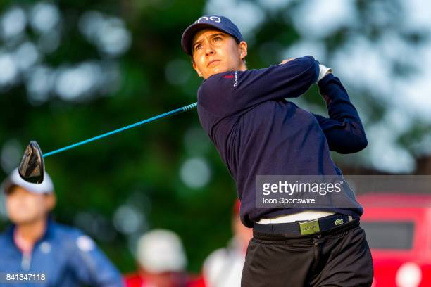Azahara Munoz tees off on the 1st hole during the second round of the Canadian Pacific Women's Open on August 25 2017 at The Ottawa Hunt and Golf...