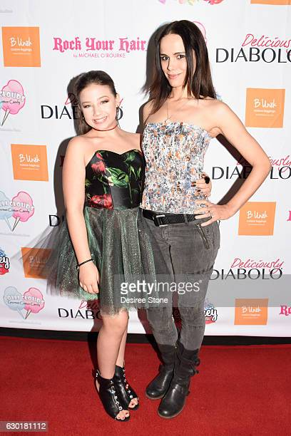 Azalea Carey and Melissa Mars attend the Launch Party for Azalea Carey's first single debut 'Extra' at Hard Rock Cafe on December 17 2016 in...