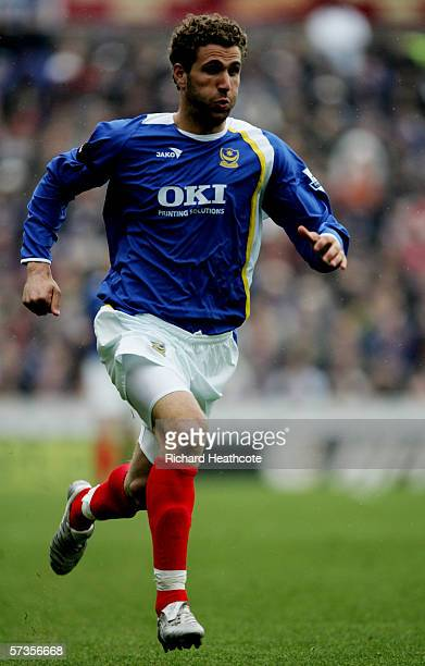 Azar Karadas of Portsmouth in action during the Barclays Premiership match between Portsmouth and Middlesbrough at Fratton Park on April 14, 2006 in...
