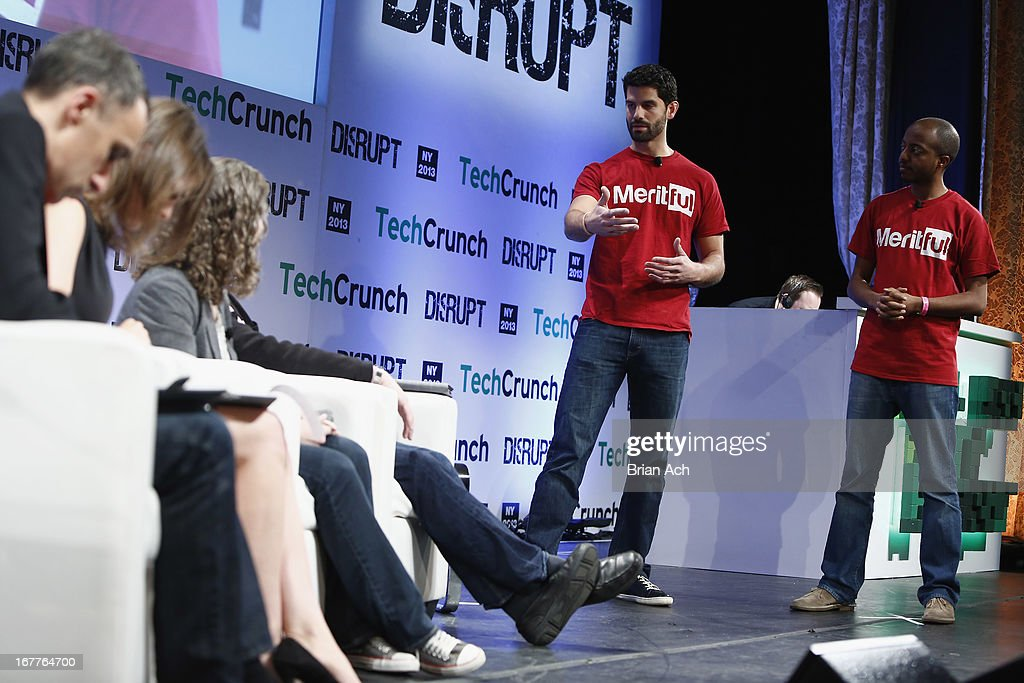 Azarias Reda presents Meritful onstage at the TechCrunch Disrupt NY 2013 at The Manhattan Center on April 29, 2013 in New York City.