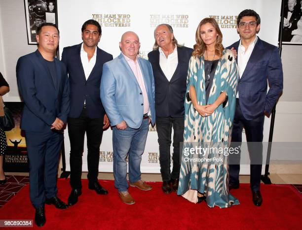 Azat Zhapekov Francisco Ovalle Bakhodir Yuldashev Armand Assante Lola Tillyaeva and Timur Tillyaev at the premiere of THE MAN WHO UNLOCKED THE...