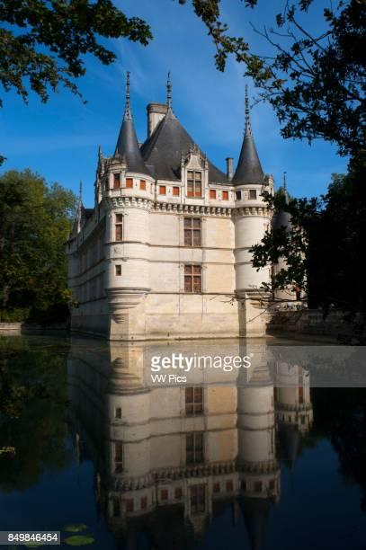 Azay le Rideau Castle UNESCO World Heritage Site Indre et Loire Touraine Loire Valley France Europe