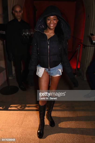 Azealia Banks attends Heavensake 'A Better High' Awareness Performance at the American Cathedral in Paris during Paris Fashion Week on March 3 2017...