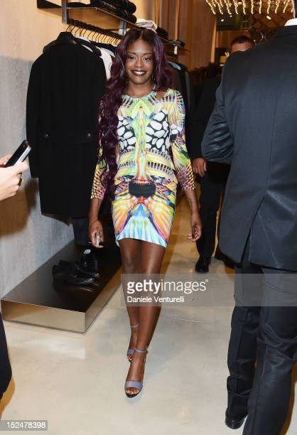 Azealia Banks attends the new Just Cavalli boutique opening party as part of Milan Womenswear Fashion Week on September 21, 2012 in Milan, Italy.