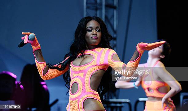 Azealia Banks performs during 2013 Governors Ball Music Festival at Randall's Island on June 8 2013 in New York City