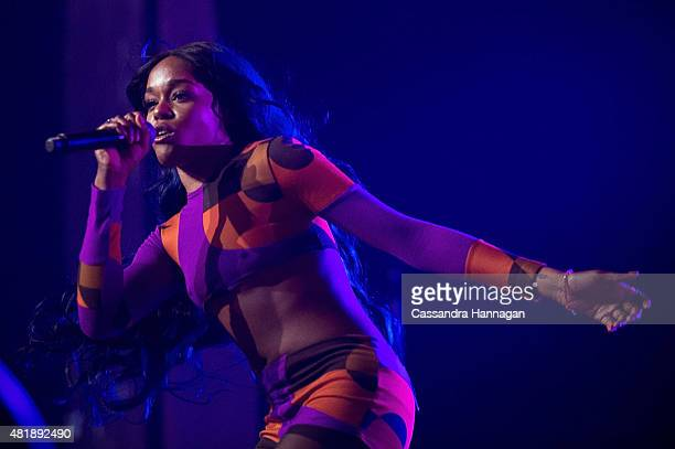 Azealia Banks performs for fans during Splendour in the Grass on July 25 2015 in Byron Bay Australia