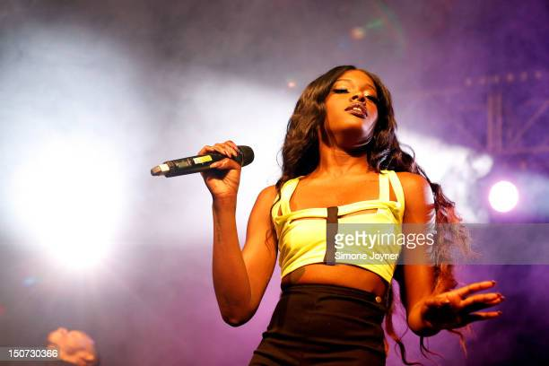 Azealia Banks performs live on the Dance Stage on Day Two during the Reading Festival 2012 at Richfield Avenue on August 25 2012 in Reading England