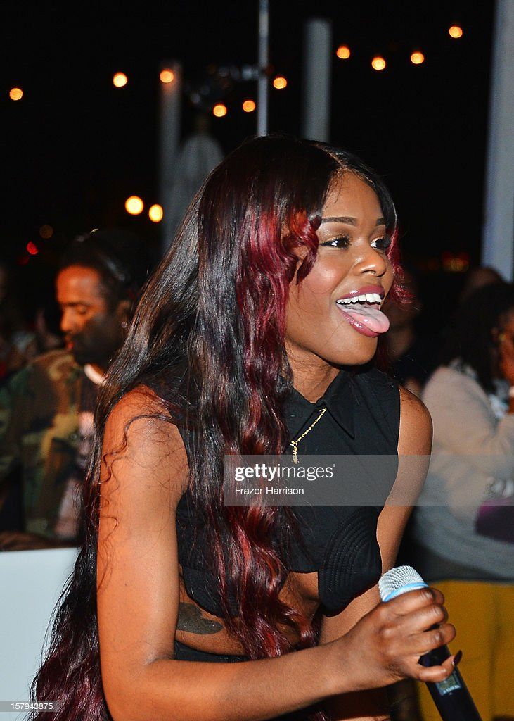 Azealia Banks performs onstage at the OHWOW & HTC celebration of the release of 'TERRYWOOD' with Terry Richardson at The Standard Hotel & Spa on December 7, 2012 in Miami Beach, Florida.