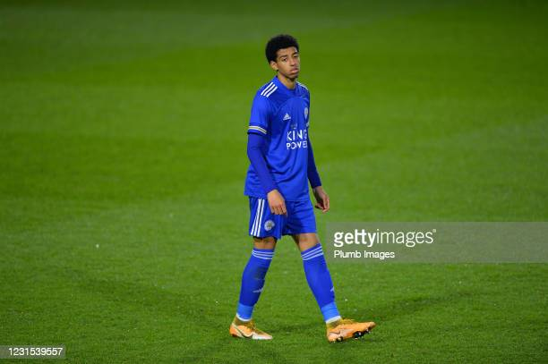 Azeem Abdulai of Leicester City during Leicester City v Sheffield Wednesday: FA Youth Cup at Leicester City Training Ground on March 5, 2021 in...