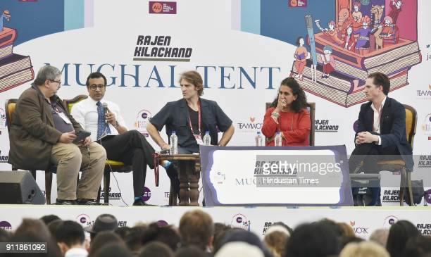 Azeem Ibrahim Jeffrey Gettleman Nick Perry Praveen Swami and Shelley Thakral in conversation with Salil Tripathi during the The Rohingya Crisis...