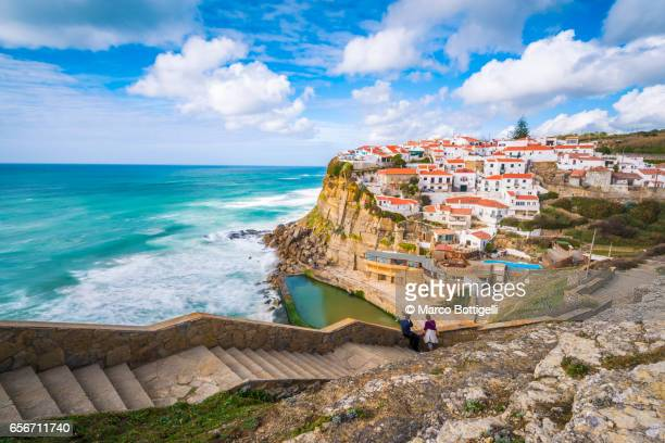 azenhas do mar, portugal. - portugal stock pictures, royalty-free photos & images