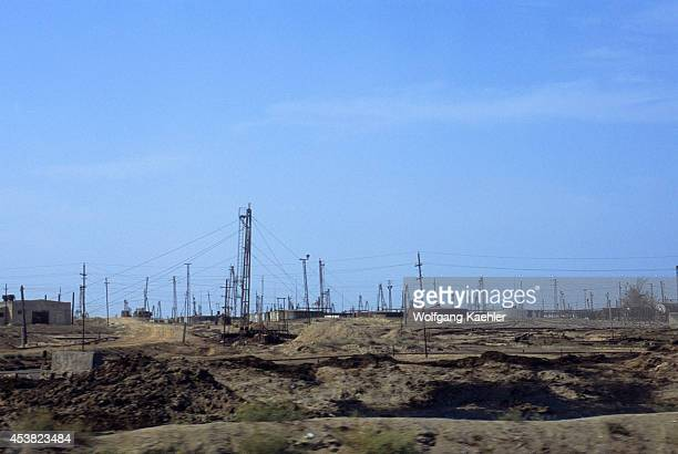Azerbaijan, Baku, Oil Fields.