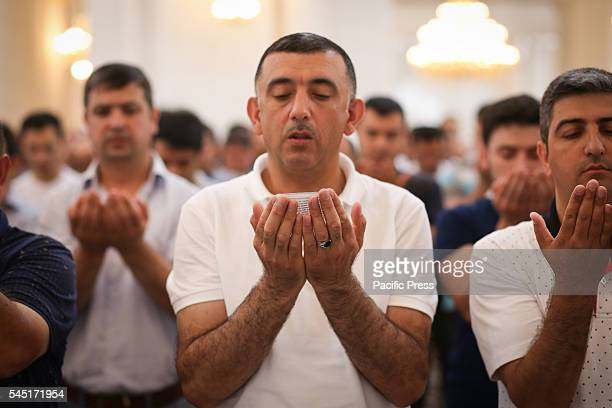 Azerbaijan Muslims pray at Heydar Mosque in Baku Muslims in Azerbaijan celebrate the Eid alFitr that marks the end of the holy fasting month of...