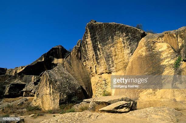 Azerbaijan, Near Baku, Gobustan, Neolithic Rock Dramings 000 Yrs Old, Oxen.