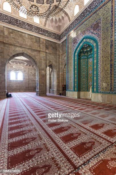 azerbaijan, samaxi, juma mosque or friday mosque, interior - {{asset.href}} stock pictures, royalty-free photos & images