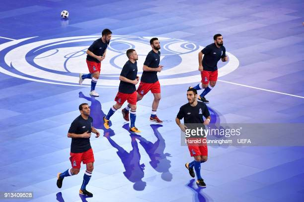 Azerbaijan warmup ahead of the UEFA Futsal EURO 2018 group D match between  France v Azerbaijan 27a5cc942a488