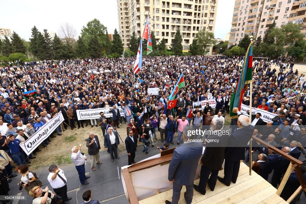 Protest in Baku against Armenia's occupation of Karabakh  : News Photo