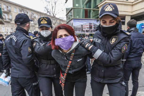 AZE: Police Break Up Women's Rights Rally In Baku