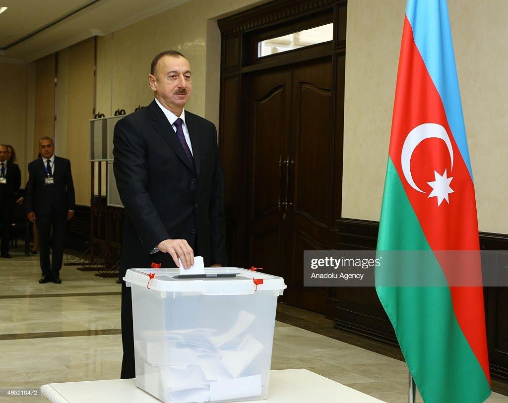 Parliamentary elections in Azerbaijan : News Photo