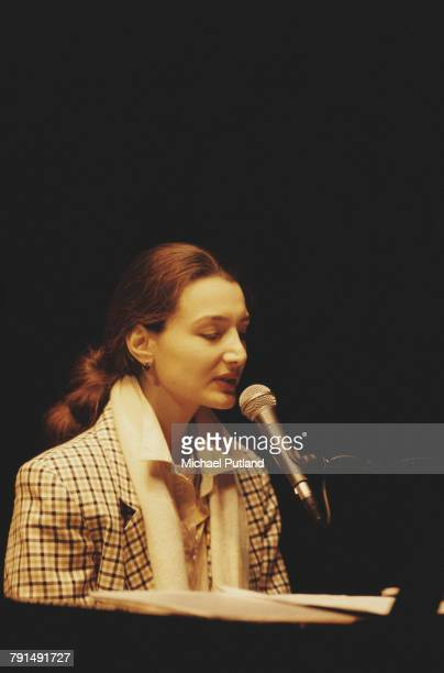 Azerbaijani singer and musician Aziza Mustafa Zadeh performs live on stage at the Queen Elizabeth Hall in London on 17th February 1997