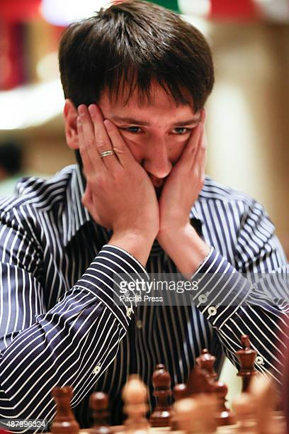Azerbaijanian chess grandmaster Teimour Radjabov concentrates during World Chess Cup 2015 There are 128 players from all over the globe joined the...