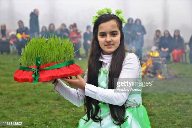 Azerbaijanis attend the Newroz celebrations in Baku Azerbaijan on March 21 2018