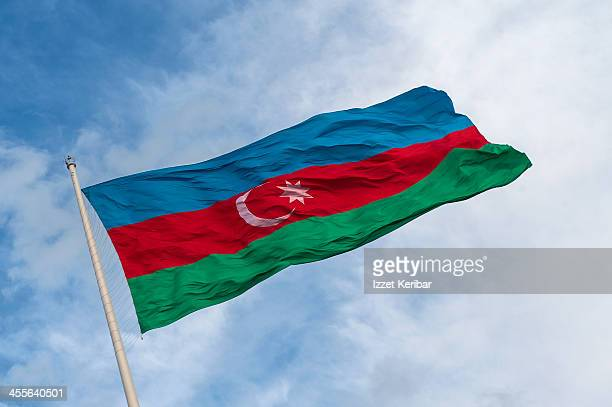 azerbaijan's flag - national flag stock pictures, royalty-free photos & images