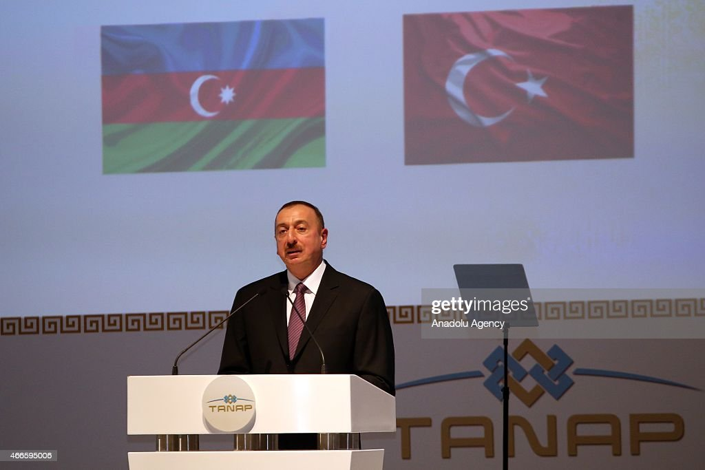 Presidents attend TANAP Project's groundbreaking ceremony in Turkey : News Photo