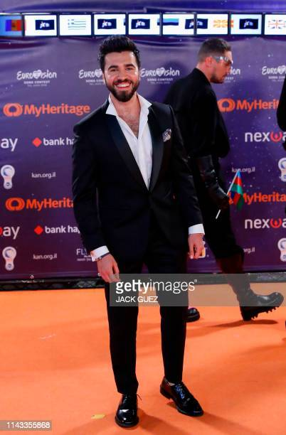 Azerbaijan's Truth poses for a picture during the Red Carpet ceremony of the 64th edition of the Eurovision Song Contest 2019 at Expo Tel Aviv on May...
