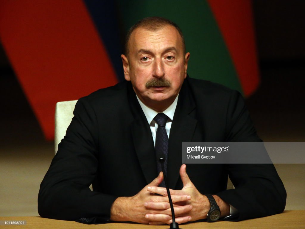 Russian President Vladimir Putin visits Azerbaijan : News Photo