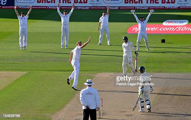Azhar Ali is lbw to Stuart Broad England v Pakistan 1st Test Trent Bridge July 2010