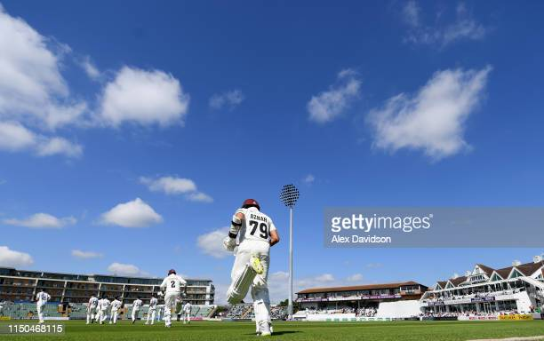 Azhar Ali of Somerset walks out to bat during Day One of the Specsavers County Championship match between Somerset and Warwickshire at at The Cooper...