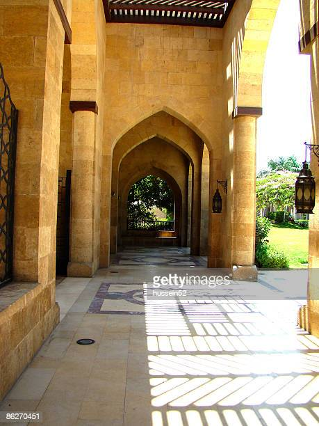azhar park entrance - hussein52 stock photos and pictures
