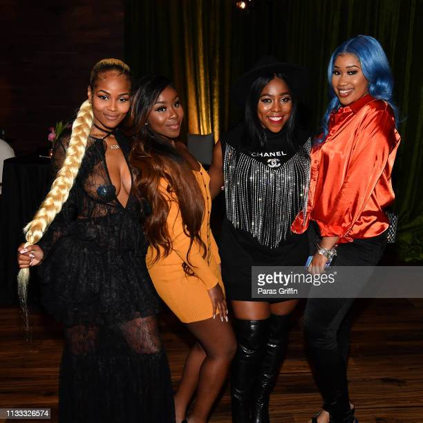 Azia Jessie Woo Mary Mz Skittlez Seats and That Girl Jay attend 2018 BET Social Awards Dinner at TWELVE Atlantic Station on March 02 2019 in Atlanta...