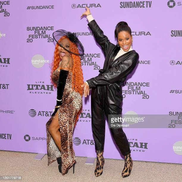 Aziah King and Taylour Paige attend the Zola premiere during the 2020 Sundance Film Festival at Eccles Center Theatre on January 24 2020 in Park City...