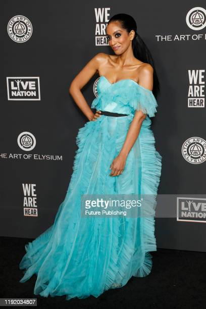 STATES JANUARY 4 2020 Azie Tesfai at The Art Of Elysium's 13th Annual Celebration Heaven at Hollywood Palladium on January 04 2020 in Los Angeles...