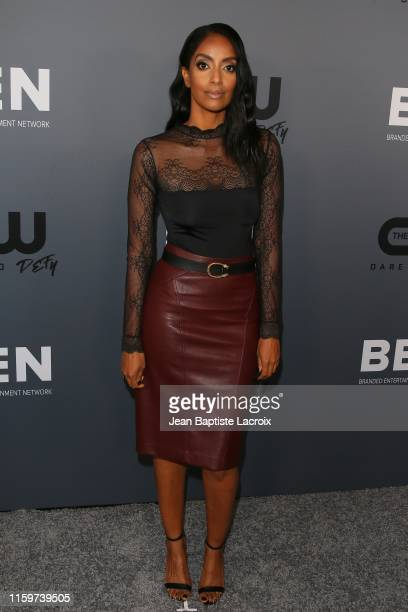 Azie Tesfai attends The CW's Summer 2019 TCA Party sponsored by Branded Entertainment Network at The Beverly Hilton Hotel on August 04 2019 in...
